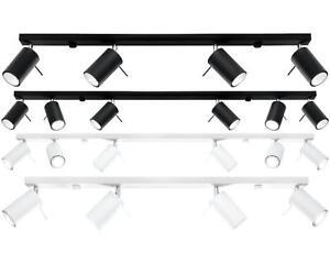 Energiesparend Lampe Stahl Leiste Plafond Deckenleuchte Weiß Schwarz LED Modern