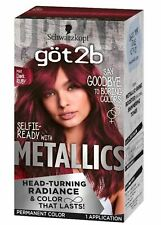 Schwarzkopf Got2B Color Metallic Permanent Hair Color M68 Dark Ruby  (Red)
