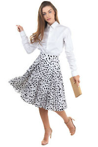 RRP €1100 BURBERRY LONDON Flare Skirt Size 10 / S-M Silk Blend Lined Concertina