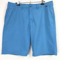Travis Mathew Mens 38 Golf Shorts Blue Flat Front Stretch Casual