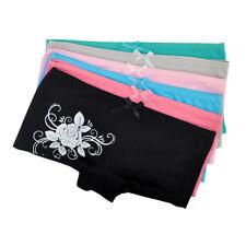 6, 12 Pack Women Boxer Briefs Cotton Low Waist Floral Underwear Ladies Knickers