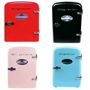 Portable Retro Cool Personal Mini Fridge Refrigerator Compact Cooler Home Office