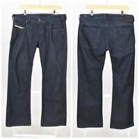 Mens Diesel ZATINY 0088Z Bootcut Jeans Dark Blue Italy Regular Low Rise W32  L30