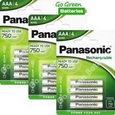 12x Panasonic AAA 750 mAh Rechargeable Batteries RTU NiMH LR03 HR03 DC2400 Phone
