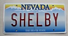 """NEVADA VANITY LICENSE PLATE """" SHELBY """" FORD MUSTANG STANG  CARROLL"""