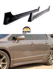 Side Skirts Mugen Style for Honda Civic sedan 8th gen 05-11 Body Kit tuning jdm
