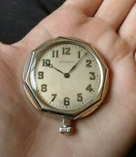 Waltham Pocket Watch Vintage Silver Mens Design Antique Works Nice Time
