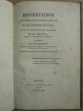 ERECTION DE LA COLONNE DE CUSSY (Côte d'Or), 1821. Rare plaquette