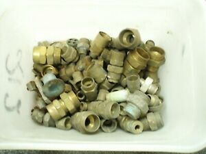 Assortment of solid brass fillings