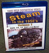 "20282 BLU-RAY HD TRAIN VIDEO ""STEAM IN THE 50's"" VOLUME 1 N&W, CN, CP, B&0"