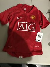Manchester United AIG Nike FIT Authentic Football  Shirt jersey Youth XS NWT