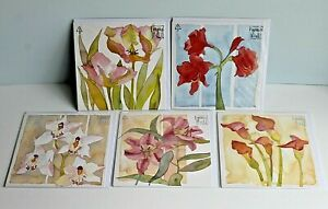 Selection of 5 Beautiful Emma Ball Floral Greetings Cards Envelopes New & Sealed