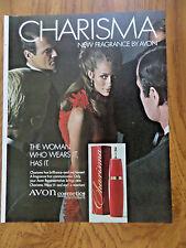 1968 Avon Cosmetics Ad Charisma New Fragrance by Avon
