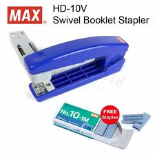 MAX HD-10V Swivel Booklet Stapler+1 Box Staples FREE,perfect in Home Office DIY