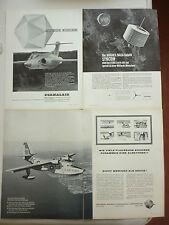 11/1963 PUB HYDRAVION GRUMMAN SA-16B ALBATROSS / HUGHES SYNCHOM NASA GERMAN AD