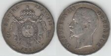 +gertbrolen+ Second Empire 5 FRANCS Tête nue  Napoléon III 1855  PARIS