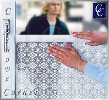 3m PRIVACY WINDOW FILM. Decorative Lace Effect Window Shield. Self-adhesive film