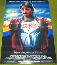 MICHAEL J FOX TEEN WOLF SIGNED MOVIE POSTER 27X40 AUTHENTIC AUTOGRAPH PROOF COA