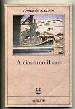 Leonardo Sciascia # A CIASCUNO IL SUO # Adelphi 1993 - Fabula