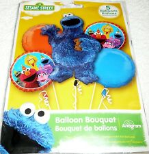 Anagram Cookie Monster SESAME STREET Foil Balloon Bouquet 5 Balloons