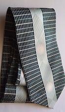 "BOLD! ""Jail Break"" 100% Italian Silk Men's tie Aqua, Black, Grey 59"" Hand-Made"