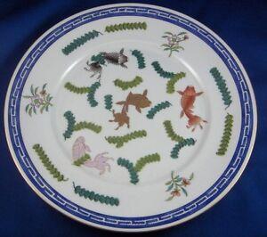 Antique 19thC Herend Porcelain Poisson Koi Fish Design Plate Porzellan Teller