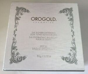 Orogold 24K Bio-Brightening Skin Tone Moisturizer SPF 30 / 50g  NEW in Box
