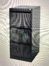 3 DRAWER BISLEY STEEL FILING CABINET BLACK FOOLSCAP NEW FREE DEL