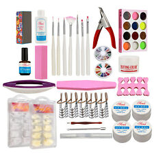 UV Gel Kit Acrylic Powder Nail Art Kit UV Gel Manicure DIY Tips Polish Brush Set