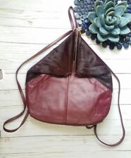 RARE Pour La Victoire Oxblood Getty Haircalf Leather Backpack Purse