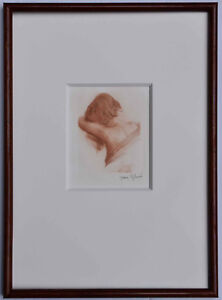 Listed French Artist Jean August Vyboud, Original Signed Etching Art Nouveau