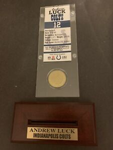 ANDREW LUCK HIGHLAND MINT BRONZE COIN & TICKET
