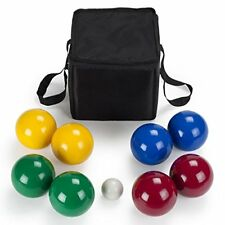 Crown Sporting Goods Premium Resin 4-Player Bocce Ball Set & Carry Case