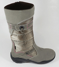 Ecco Girls Gore-Tex Grey Suede Combi Zip Boots UK 12.5 EU 31 US 13.5