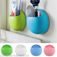 GB Bathroom Toothbrush Holder Toothpaste Storage Rack Wall Mount Suction Cup