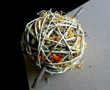 Large Botanical Bunny Ball - Pet Rabbit Guinea Pig Herb & Timothy Hay Treat Toy