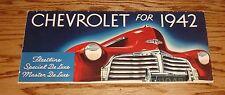 Original 1942 Chevrolet Full Line Sales Brochure 42 Chevy Fleetline De Luxe
