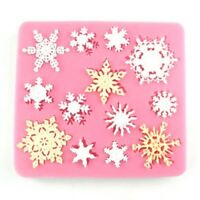 Snowflake Silicone Fondant Cake Mold Soap Chocolate Candy Mould DIY DecoratingPS