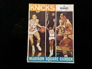 November 1, 1969 Milwaukee Bucks @ New York Knicks Program - Unscored