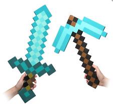 Minecraft Large Diamond Sword Pickaxe EVA Weapons Plush Doll Soft Toys Kids Gift