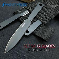 12PC Ninja Naruto Tactical Combat Hunting Kunai Throwing Knife Set + Sheath CASE
