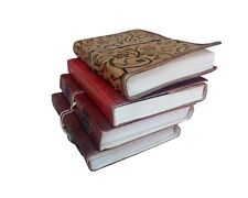 Leather Notebook Journal Diary Handmade Blank Travel Notepad Lot of 4