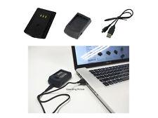 USB Ladegerät für Casio Exilim EX-FC200S EX-Z3000 EX-Z3000BN, 1 Jahr Garantie