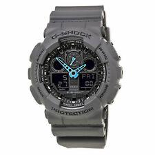 New G-Shock Men's Watch Grey Black Ana-Digi Dial Black Strap GA100C-8A