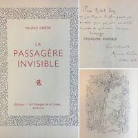 🌓 EO MAURICE CARÊME La Passagère Invisible envoi à MICHEL CIRY récit de voyage