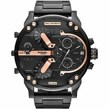 Diesel Mr Daddy Dz7312 Chronograph Four Time Zone Dial Black Men's Watch
