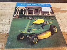 1989 JOHN DEERE RIDING MOWERS  Original Sales Brochure