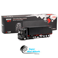 Mini GT 1:64 Mercedes-Benz Actros with 40' Container (Black) #131 Mijo Exclusive
