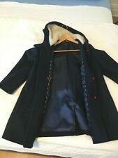 J. crew women Italian wool coat size 4 color midnight