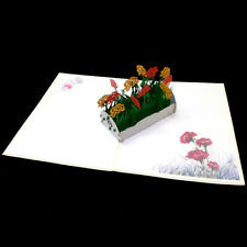 Mother's Day Flower Box 3D Pop Up Card Love Spring Birthday Anniversary